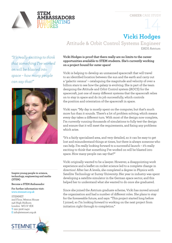 STEM Careers: Attitude & Orbit Control Systems