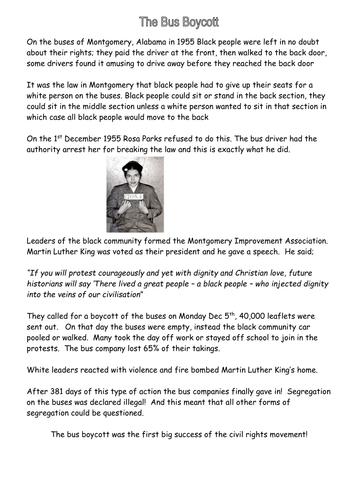 Montgomery Bus Boycott Flyer