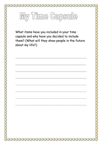 Time Capsule Resources By Emmamartinez1507 Teaching Resources Tes