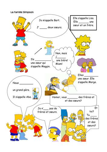 Present tense of avoir - Simpsons family