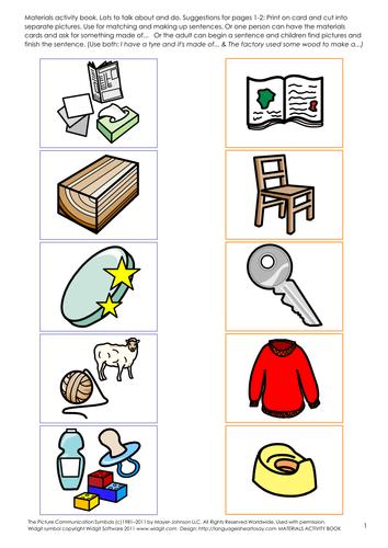 Materials Activity Book