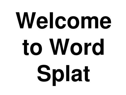 Word Splat - kenya