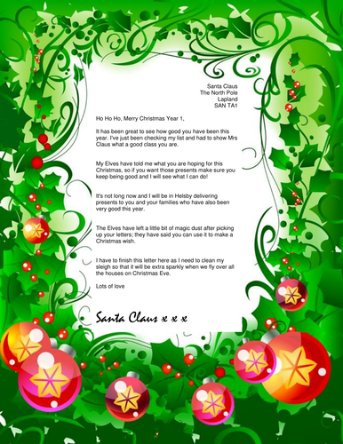 Letter From Santa By Emmalou1989