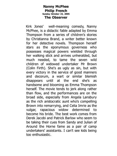 writing a film review ks4