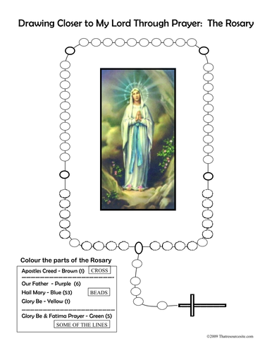 Printables Parts Of The Rosary Worksheets rosary worksheets davezan colour the worksheet by gcasey03 teaching resources tes