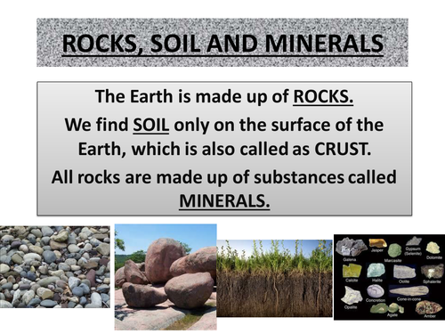 Rock soil minerals grade 5 by premal g teaching for Minerals in dirt