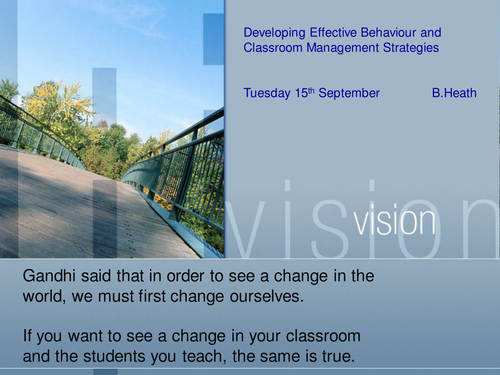 Behaviour for Learning INSET