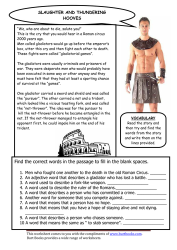 gladiator movie questions for students pdf