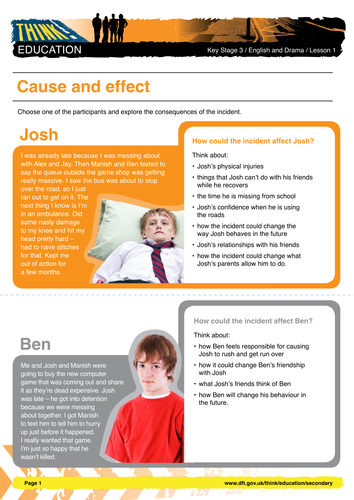 cause and effect essay on accidents
