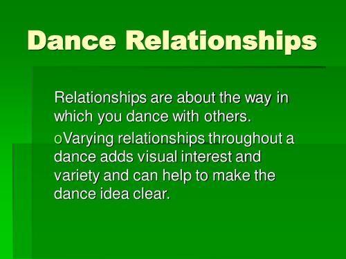 Dance Relationships