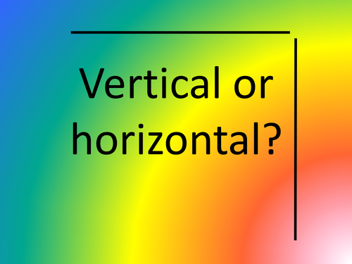 Vertical or horizontal by theoneandonlyfunkyfrog Teaching – Horizontal and Vertical Lines Worksheet