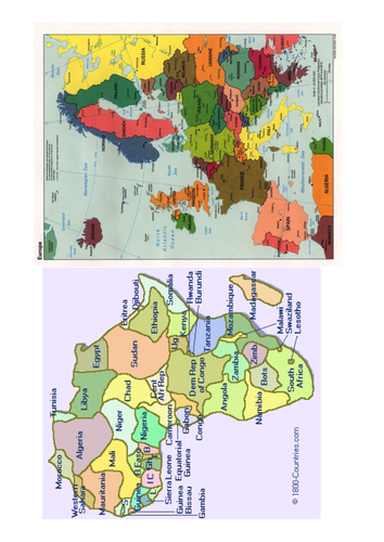 World map with continents by englishgirl8 teaching resources tes continents of the world gumiabroncs Images