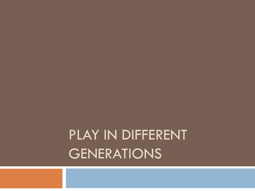Play across the Generations