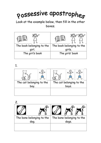 Possessive apostrophes by groov_e_chik - Teaching Resources - Tes