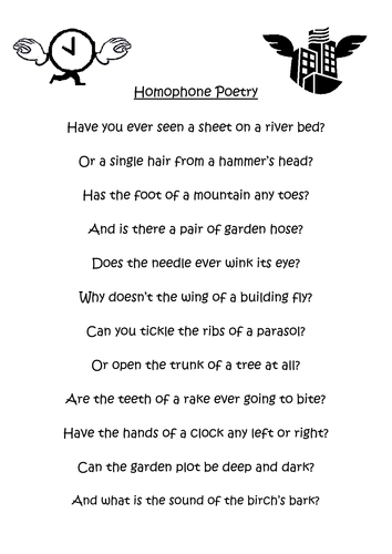 Homophone worksheet by lydiafirth - Teaching Resources - Tes