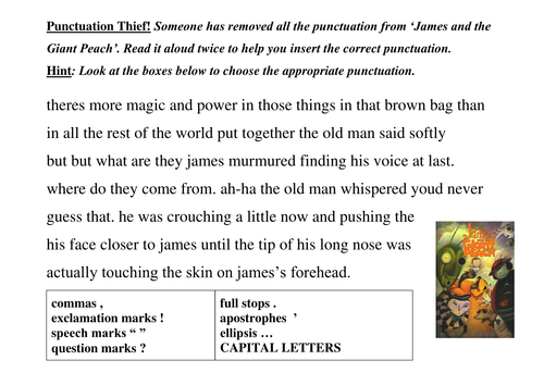 Missing Commas Worksheet: Add punctuation to a text by lathburg   Teaching Resources   TES,