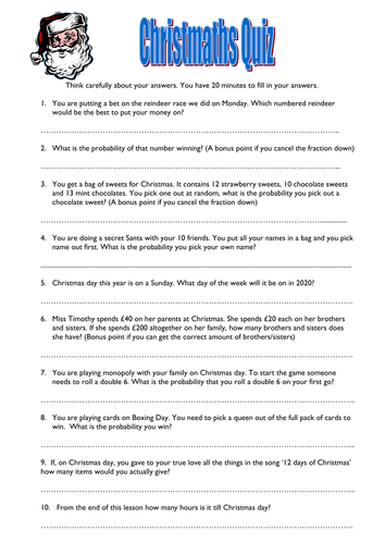 ks maths christmas quiz worksheet by helbel  teaching resources  ks maths christmas quiz worksheet by helbel  teaching resources  tes