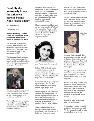Year 6 Non Fiction 1 Biography and autobiography