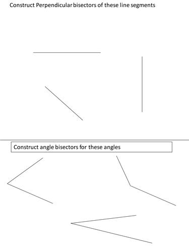 ks3 maths simple construction worksheet by bcooper87 teaching resources. Black Bedroom Furniture Sets. Home Design Ideas