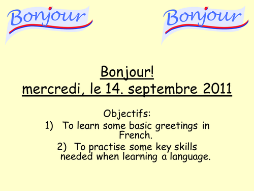 Bonjour French Greetings By Mflteacher1 Teaching Resources Tes