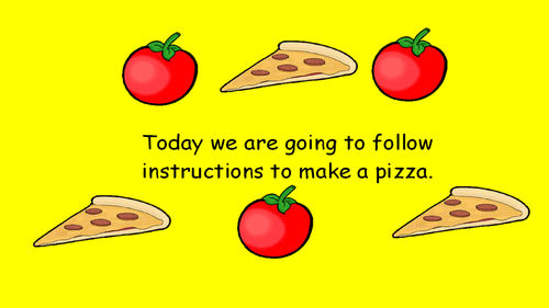 KS1 Writing Instructions - Pizza