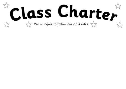 Class Charter Agreement By Simonh Teaching Resources Tes