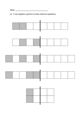 Reflective Symmetry Patterns by Missb83 - Teaching Resources - TES