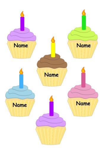 Cupcake Birthday Display By Shakhah Teaching Resources Tes