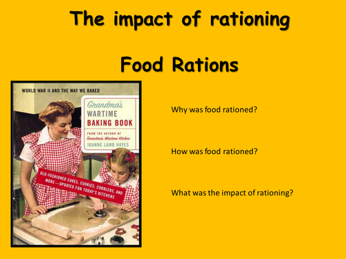 WW2 rationing powerpoint