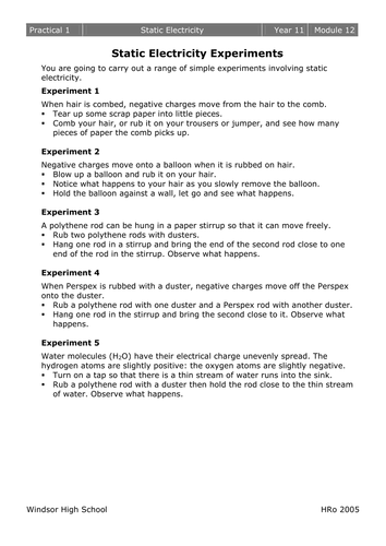 Worksheets Electrostatics Worksheet electrostatics worksheets by mousey80 teaching resources tes