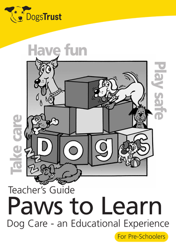 Paws to Learn. For 3-5 year olds