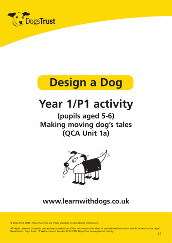 Design a Dogs. For 5-11 year olds