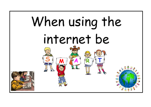 Be SMART on the internet - Internet safety display by ruthbentham ...