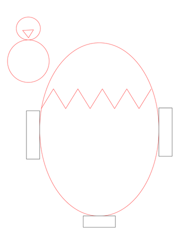 easter chick templates free - easter card pop up chick from egg template by