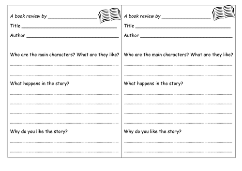 Book review template by groov_e_chik - Teaching Resources - Tes