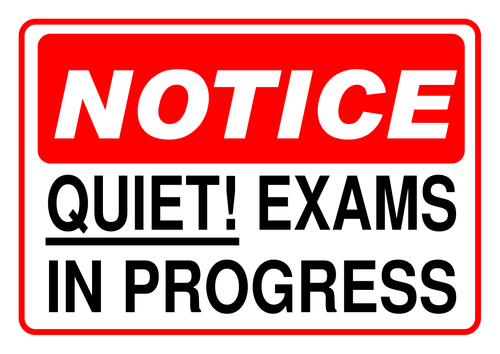 Quiet! Exams in progress A4 poster