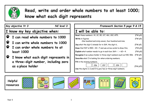 Maths Activities For Key Objectives By Kcoates Teaching Resources