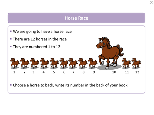 Probability horse racing game by ws242 teaching resources tes probability horse race 2 dice ccuart Gallery
