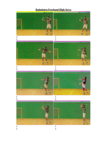 Badminton Coaching and Task Cards