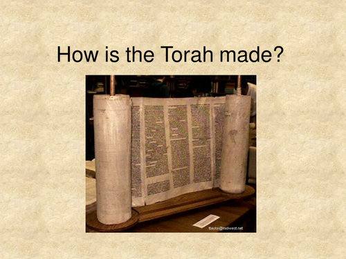 How the Torah is made.