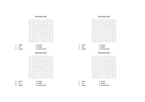 revision worksheet year 7 german by uk teaching resources tes. Black Bedroom Furniture Sets. Home Design Ideas