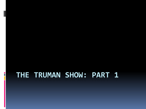 satire essay on the truman show The truman show as commentary on consumer society [the truman show] the movie isn't only a satire of television and other forms of media.