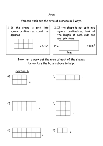 Find the area of squares and rectangles by groov_e_chik - Teaching ...