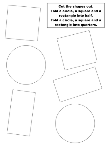Cut Out And Fold Shapes Into Halves And Quarters By Groov