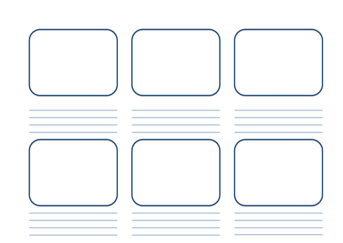 BTEC CREATIVE MEDIA PRODUCTION Blank storyboard