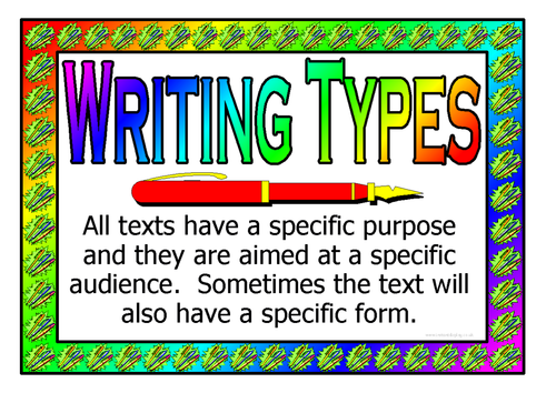types of letters writing types by nahall teaching resources tes 25361 | image?width=500&height=500&version=1362339745000