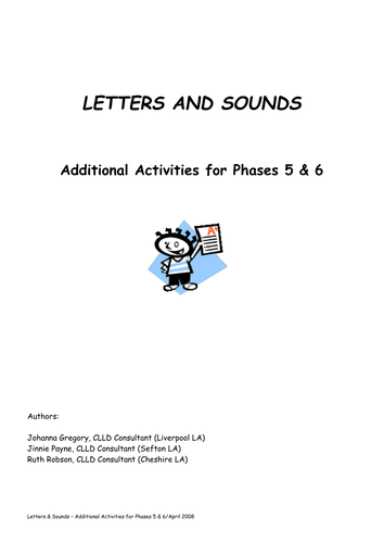 Phonic notepad flash cards, games, pictures etc by
