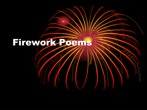 Fireworks Poems