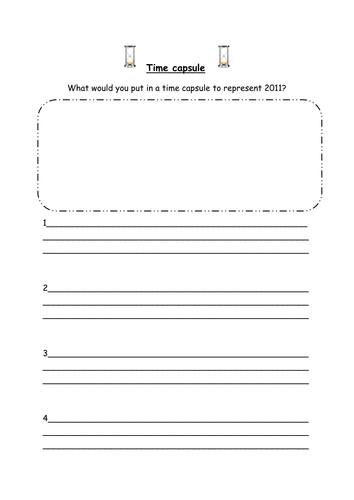 Time Capsule By Saz0885 Teaching Resources Tes