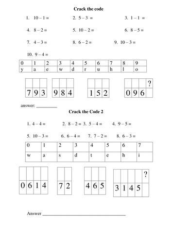 Subtraction Worksheets : subtraction worksheets year 1 tes ...
